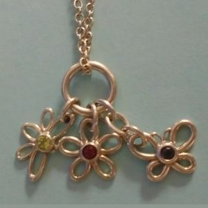 TIFFANY BEE, FIREFLY, AND FLOWER GEMSTONE NECKLACE